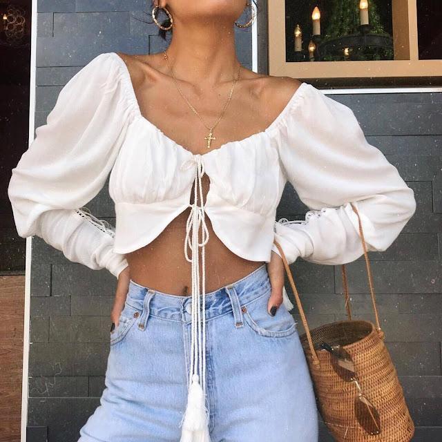 silk crop blouse
