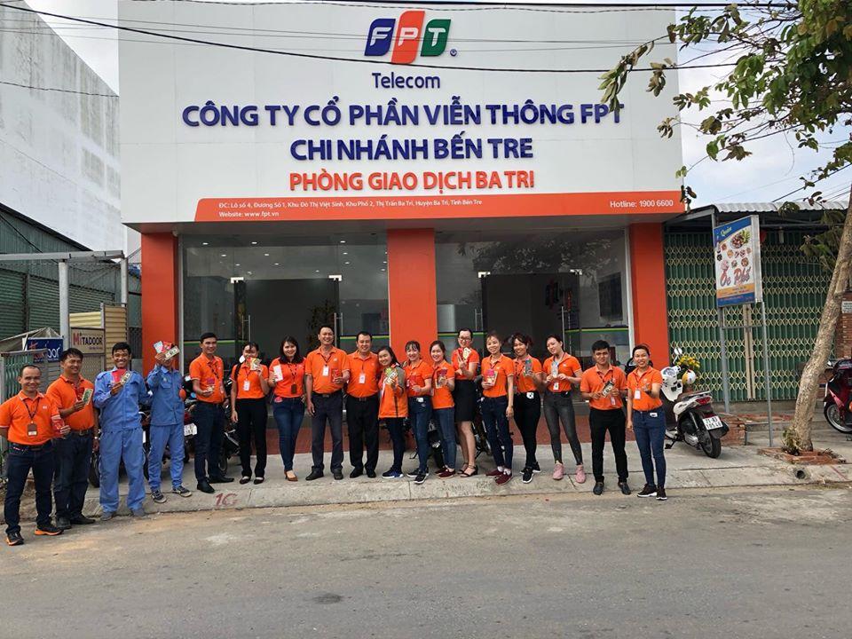 FPT Bến Tre - Đơn vị lắp đặt Internet cáp quang tại Bến Tre chi nhánh Ba Tri