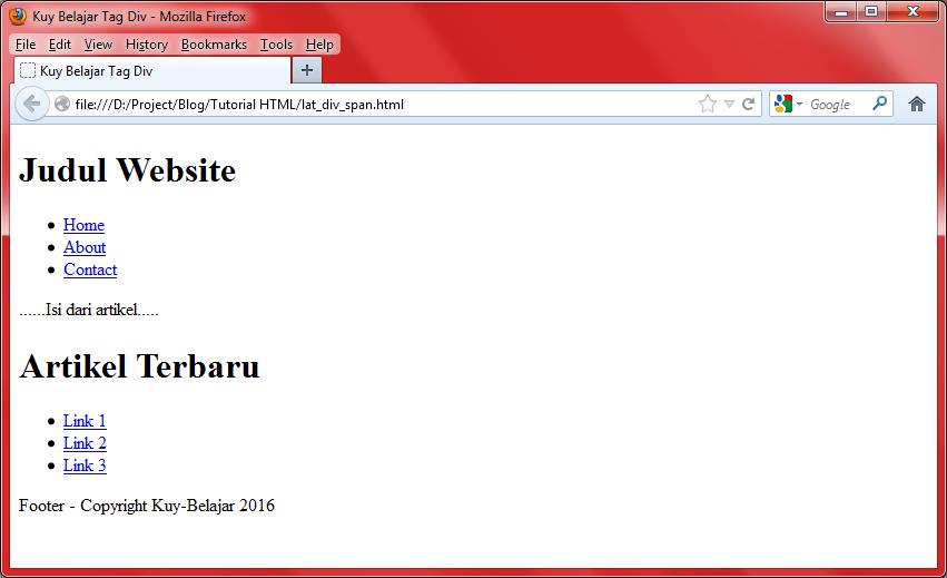 Fungsi tag div dan tag span beserta cara penggunaannya kuy belajar - Div tag in html ...