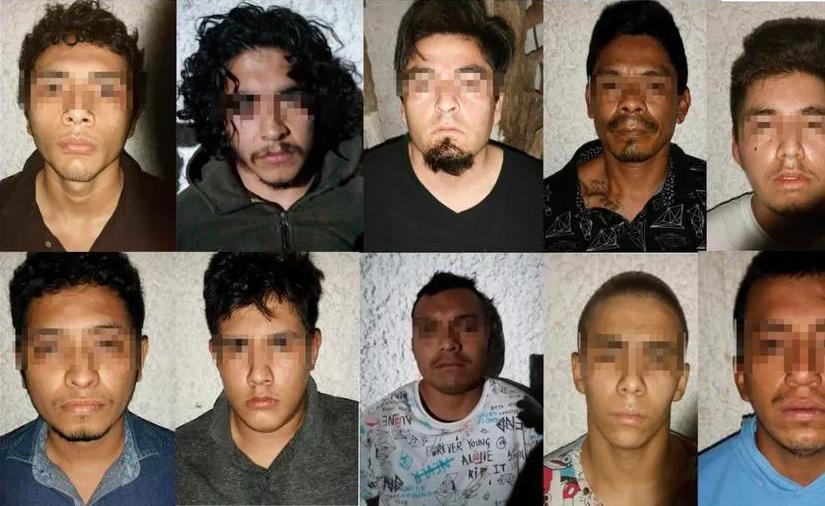Detienen en Cancún a 10 Sicarios del Cártel Jalisco Nueva Generación
