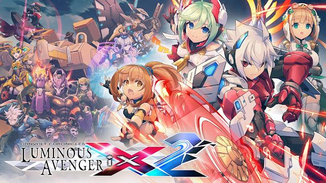 Gunvolt Chronicles: Luminous Avenger iX 2 (Switch): ilustrações de personagens e vídeo com a música tema são divulgados