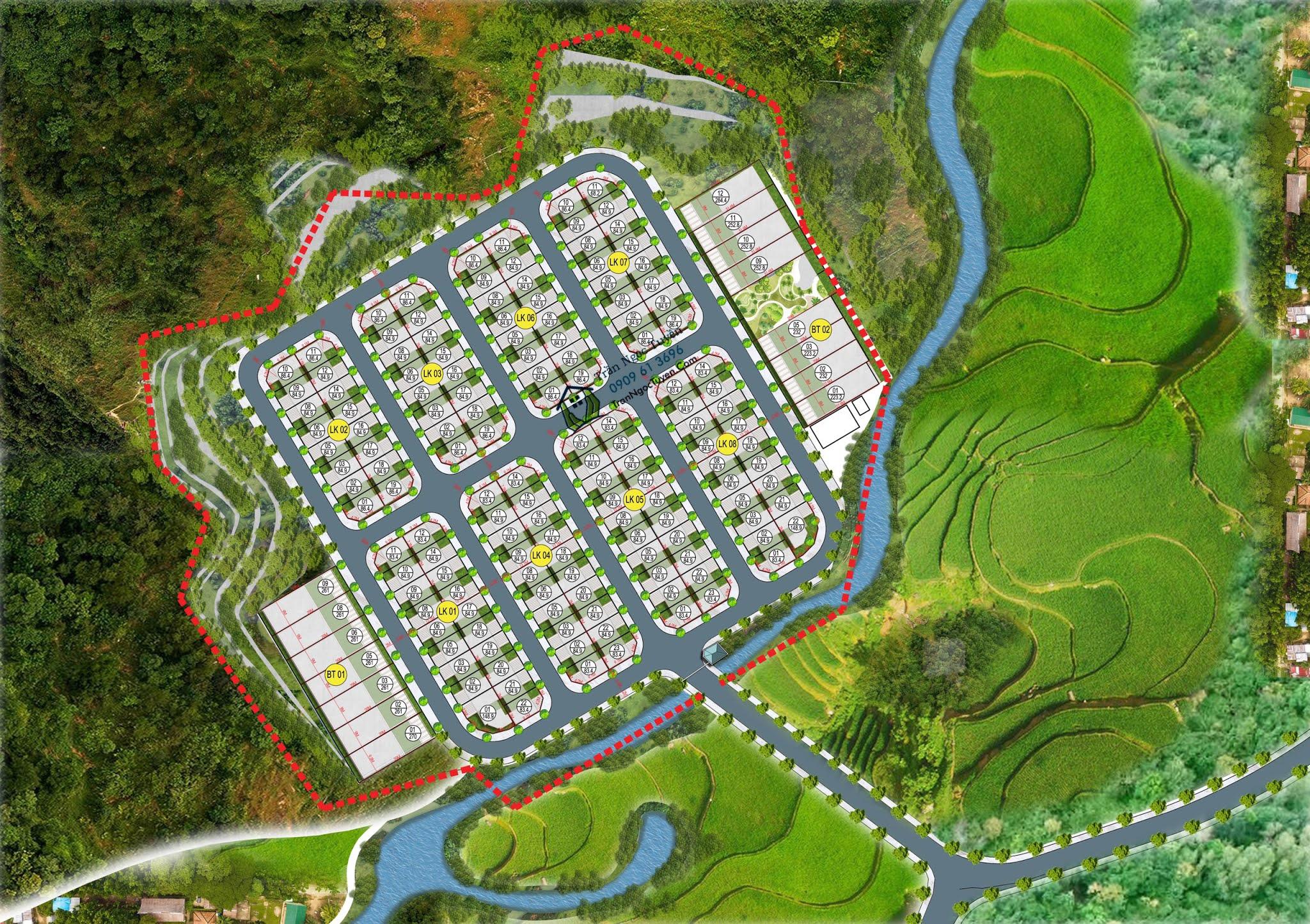 Hoà bình Green Valley sơ đồ quy hoạch phân lô