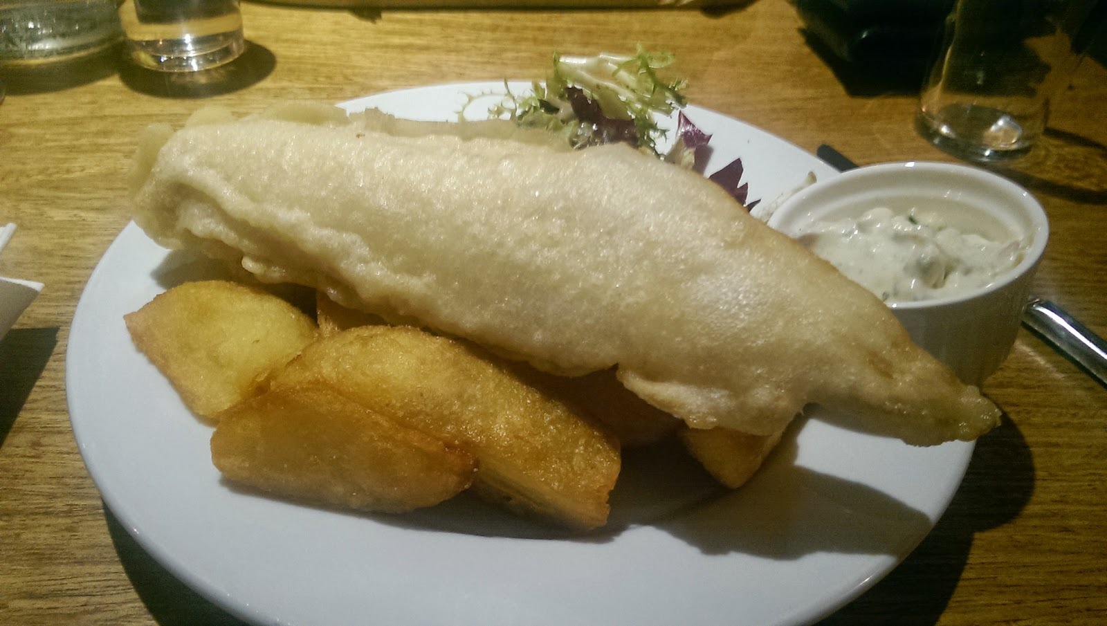 Gluten Free Fish and Chips Bridge Inn Ratho