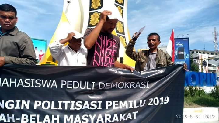 Dibesar-Besarkan, Ini Penampakan Massa Tolak #2019GantiPresiden di Aceh