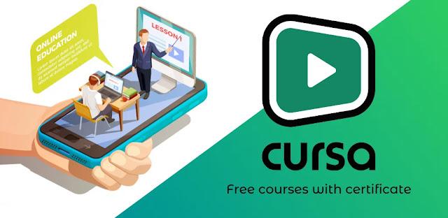 تحميل تطبيق Cursa - free courses with certificate