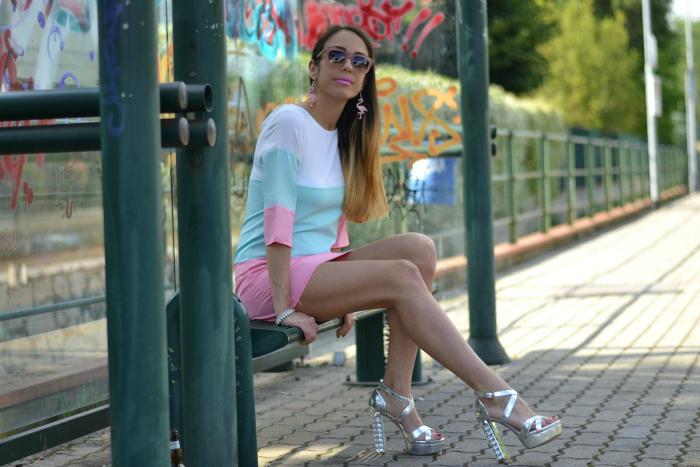 mini dress colorato