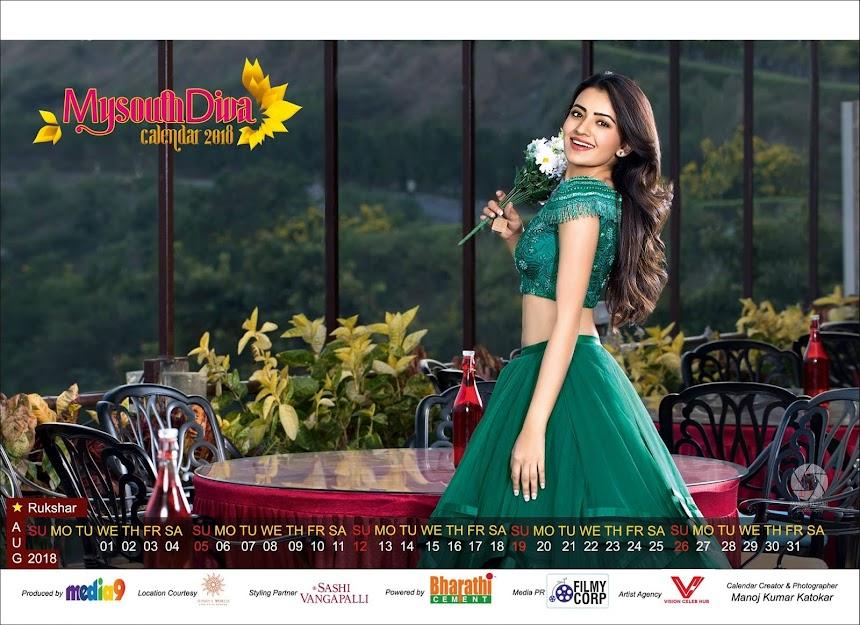 My South Diva Calendar 2018 - Rukshar Mir