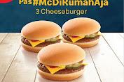 Promo McD ~ 3 PCS Double Cheeseburger Rp 70.000 Berlaku 18 - 23 April 2020