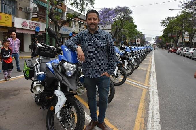 Merlo recibe nuevas motos para combatir la delincuencia