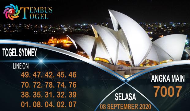 Bocoran Nomor Togel Sidney Selasa 08 September 2020
