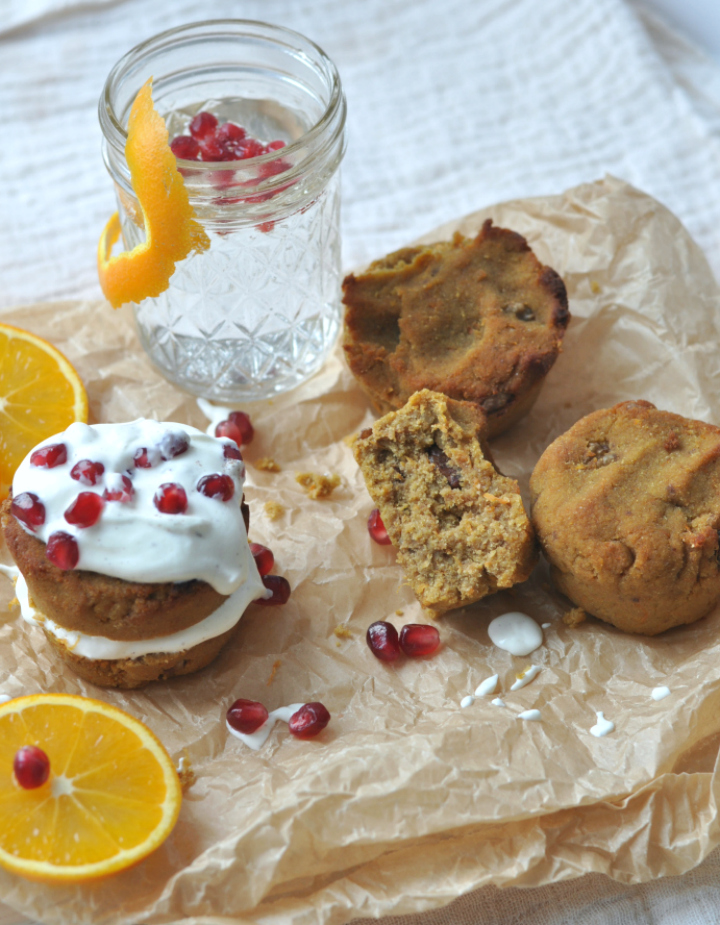 glutenfree Orange-Carrot-Cake Muffins, rich in flavor, moist and chewy