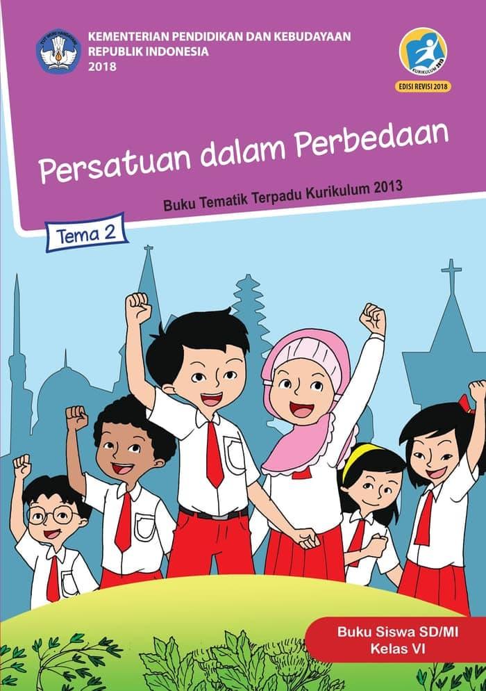 Buku Siswa Tematik SD Kelas VI Tema 2 Persatuan dalam Perbedaan