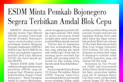 ESDM Asks Bojonegero Regency Government to Immediately Issue Cepu Block Amdal