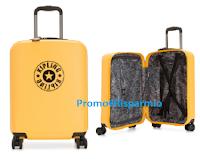 Logo Kipling : vinci gratis trolley rigido da cabina a 4 ruote