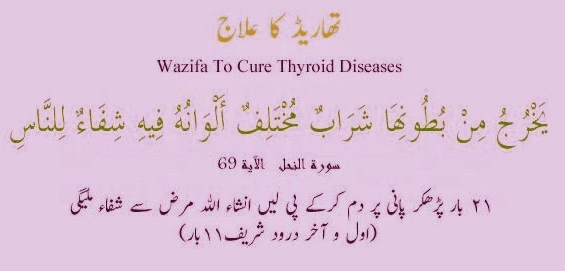 Dua for Thyroid treatment in Islam