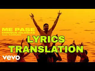 Me Pasé Lyrics in English | With Translation | - Enrique Iglesias