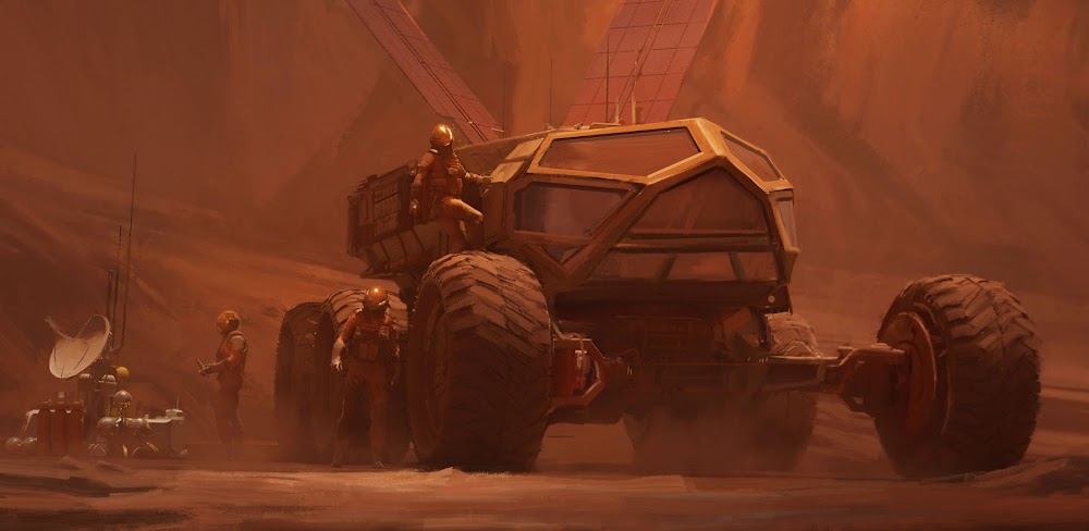 Mars exploration rover by Alexandra Hodgson