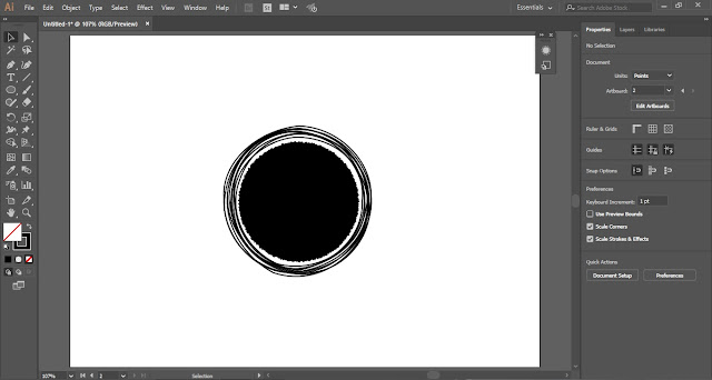 Scribble Circular Logo in Adobe Illustrator