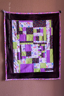 Improv-Pieced Baby Quilt: The Berry Bunch