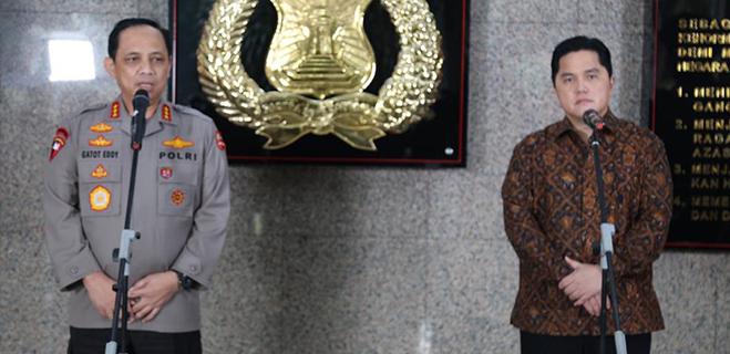 Erick Thohir: Vaksin Massal Covid-19 Diatur Oleh TNI-Polri
