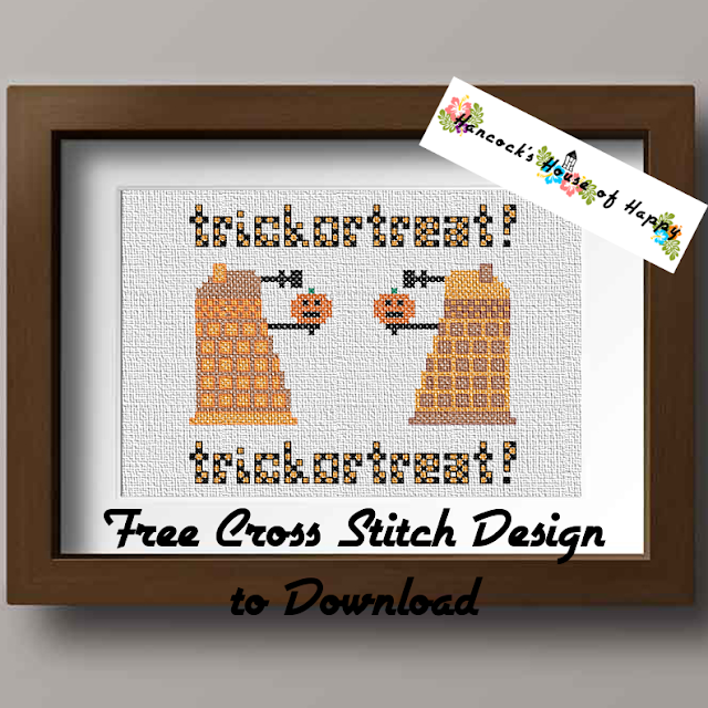 Free Dr. Who Dalek Cross Stitch Pattern to Download