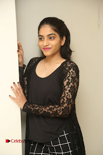Actress Punarnavi Bhupalam Stills in Black Dress at Pittagoda Press Meet  0044.JPG