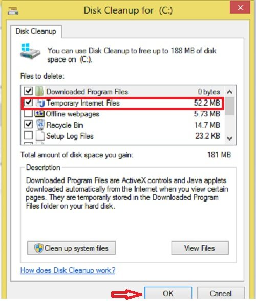 Disk Cleanup hapus Temporary