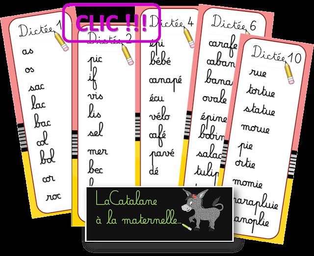 Dictées muettes 1-10 Lubienska (LaCatalane)