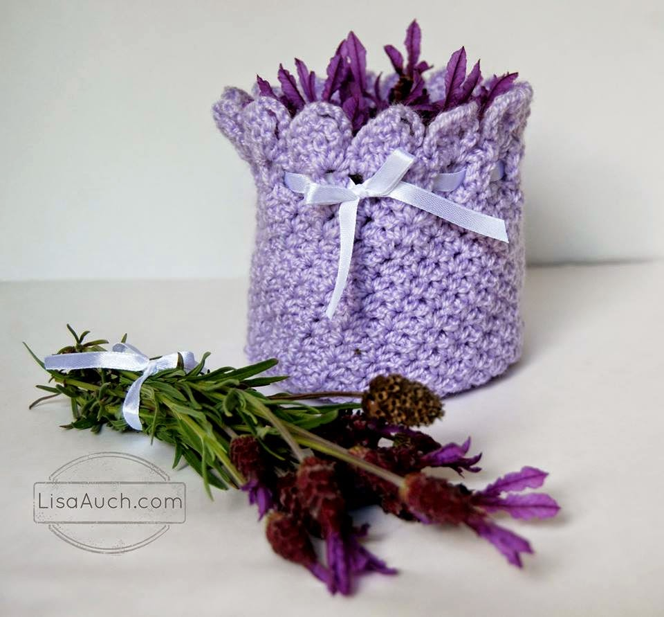 Free Crochet Lavander Potpouri Holder Pattern (Great Gift Idea)