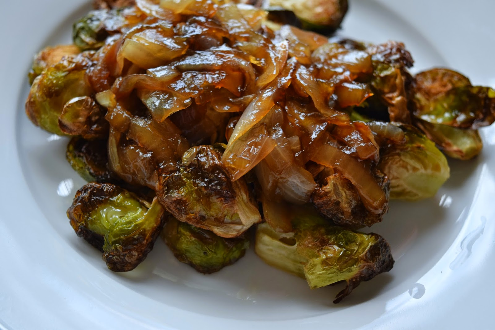 brussel sprouts with maple caramelized onions