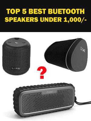 Top 5 Powerful Wireless Bluetooth Speakers under 1000/- Rupees