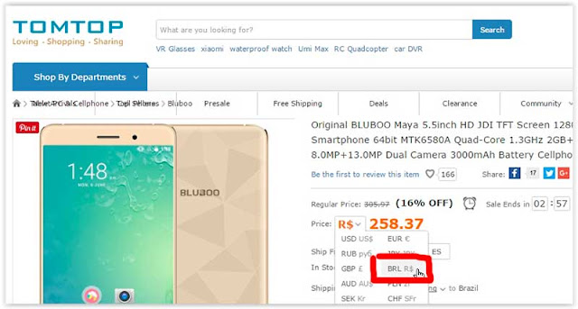 smartphone bluboo maya tomtop