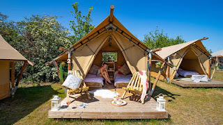 Sparkle tent from YALA luxury canvas lodges - designed for couples