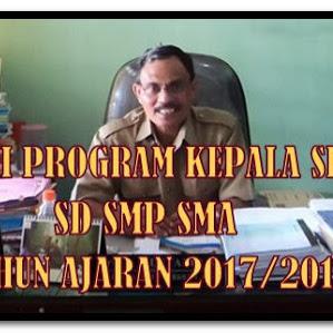 Contoh Program Tahunan Kepala Sekolah SD SMP SMA Tahun Ajaran 2017/2018