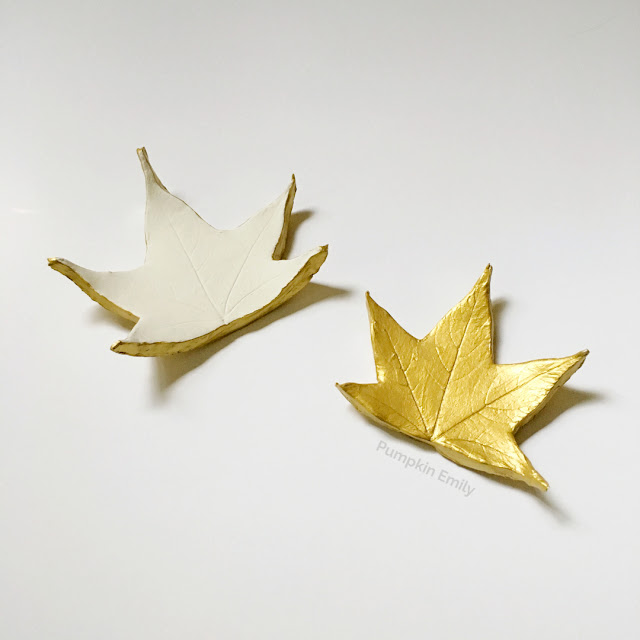 DIY Leaf Bowl made with Air Dry Clay
