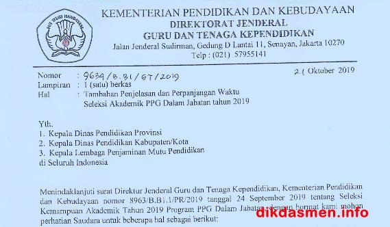 Jadwal Seleksi Akademik PPG 2019 di Perpanjangan ...