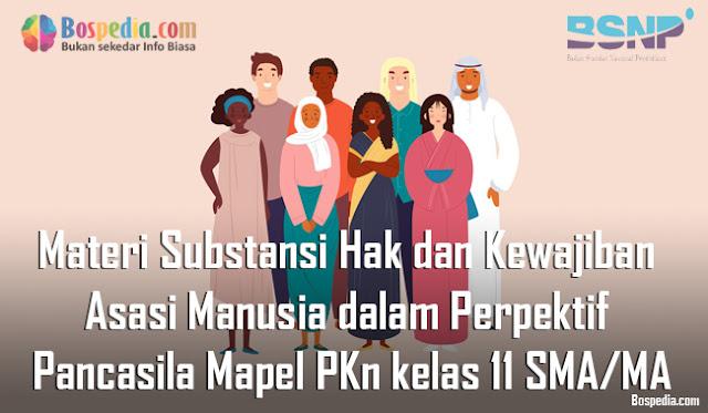 Materi Substansi Hak dan Kewajiban Asasi Manusia dalam Perpektif Pancasila Mapel PKn kelas 11 SMA/MA