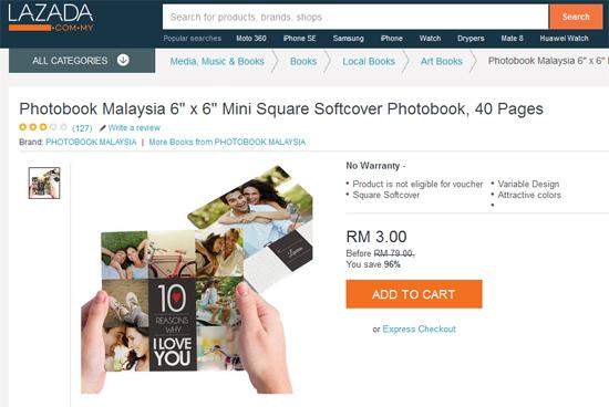 Promosi RM3 Photobook Malaysia 40 muka surat Soft Cover