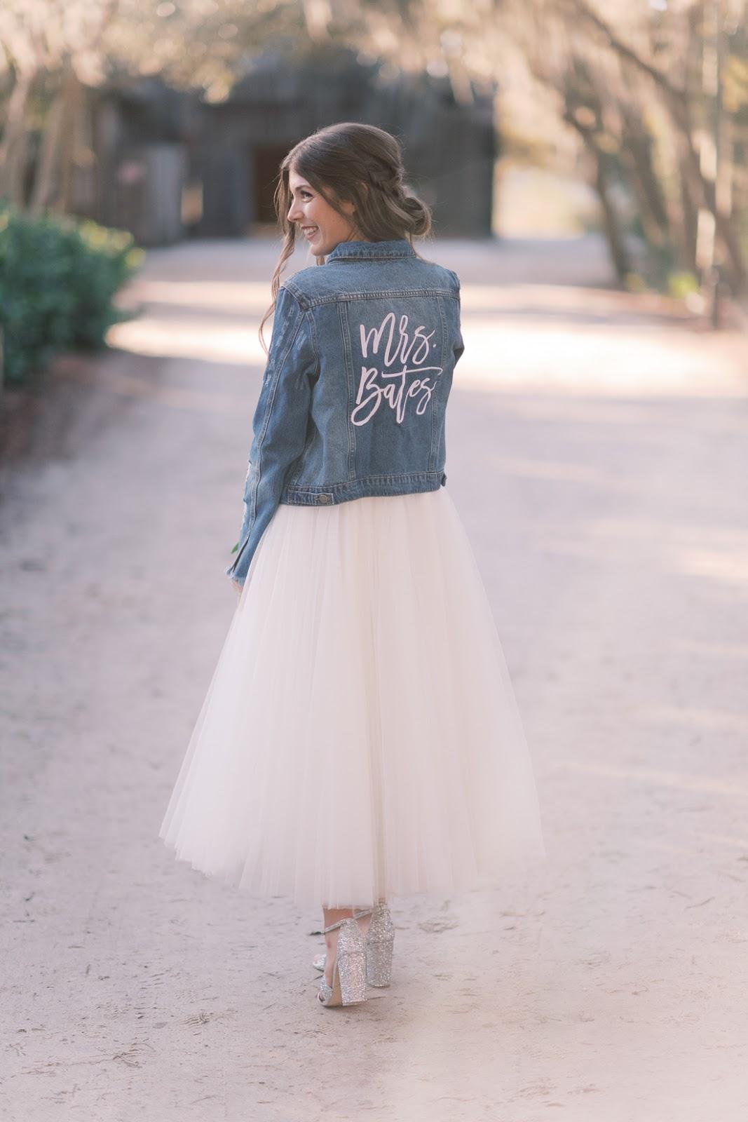 Personalized Denim Jacket Wedding - Chasing Cinderella