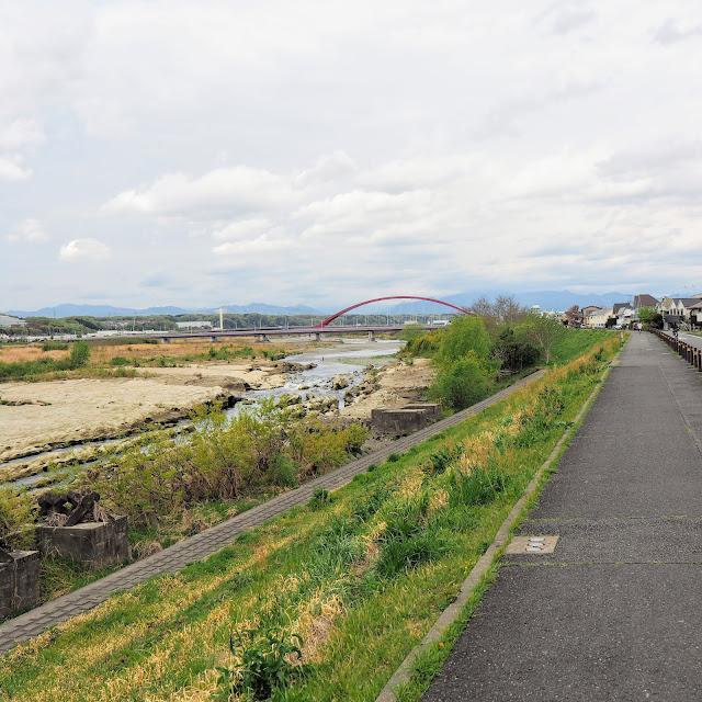 多摩川サイクリングロード 多摩大橋