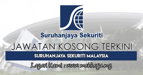 Jawatan Kosong Terkini 2018 di Suruhanjaya Sekuriti Malaysia