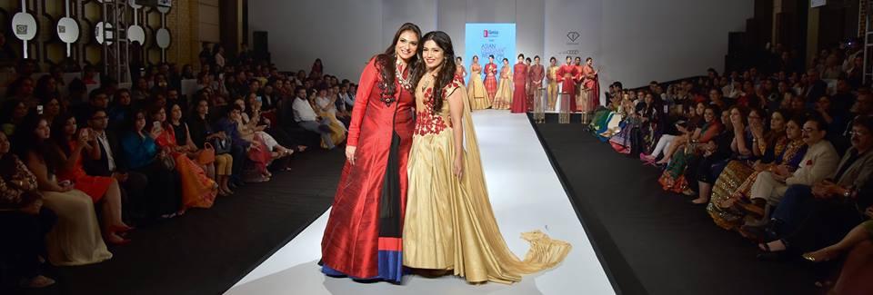 c54b111968 Grand Finale designer Charu Parashar with Showstopper Bhumi Pednekar at ADW  2015 - Day 2