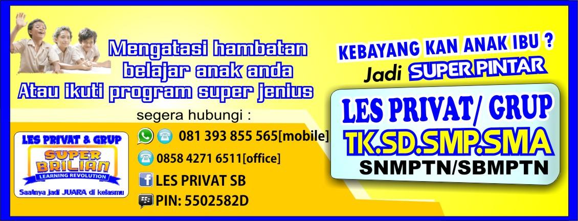 Bimbel Les Privat Kelas Tk Sd Smp Sma Solo Surakarta