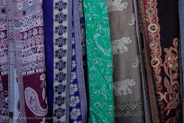 More textiles with many colourful patterns
