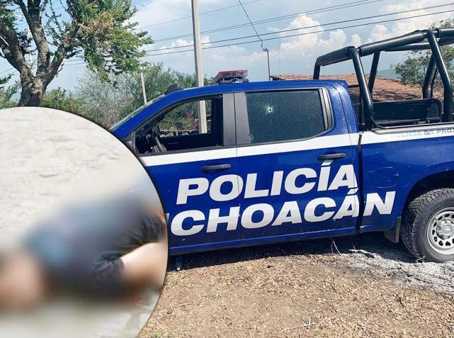 Fotos; 4 Policías heridos y 1 Sicario muerto, Saldo final de la pelotera en Sahuayo; Michoacan
