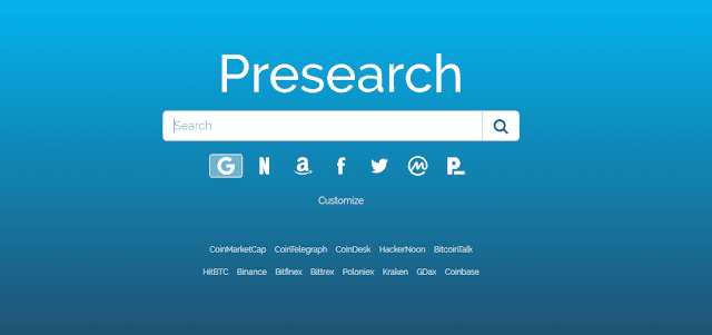 Presearch – o buscador que paga tokens