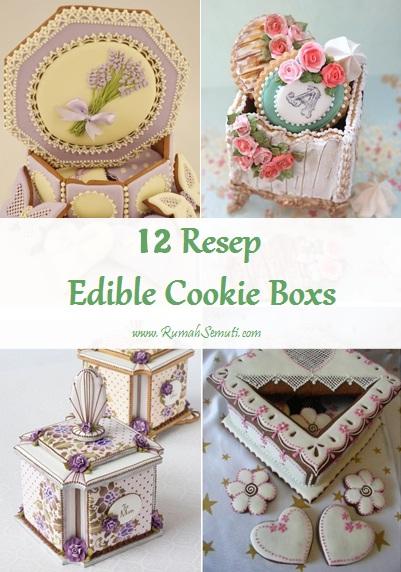 12 Kotak Kue yang Bisa Dimakan (Edible Cookie Boxs)