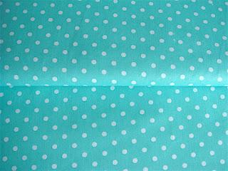 Bavlnená látka s bodkami modrozelená