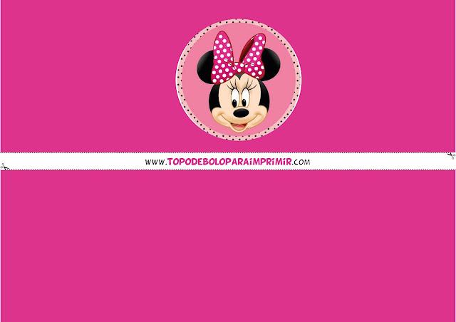 faixa lateral minnie rosa para bolo