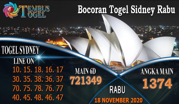 Bocoran Togel Sidney Rabu 18 November 2020